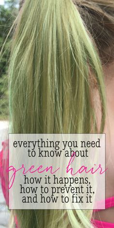 In the Pool: Why Your Hair Turns Green And How to Fix It!  #ad