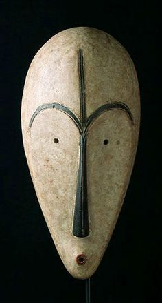 Ngil Mask by the Fang People of Gabon - decoration - African -