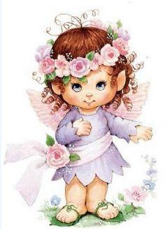 Ruth Morehead little fairy girl *-* Angel Images, Angel Pictures, Cute Images, Cute Pictures, Sarah Key, Cute Clipart, Holly Hobbie, Jolie Photo, Copics