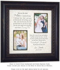 Check out Wedding Gift Parents, Bride Gift to Parents, Groom Wedding Gift to Mom and Dad, Wedding Dates Personalized Picture Frame, on photoframeoriginals Thank You Gift For Parents, Wedding Gifts For Parents, Wedding Thank You Gifts, Wedding Gifts For Groom, Personalized Wedding Gifts, Bride Gifts, Groom Wedding Pictures, Groom Pictures, Wedding Ideas