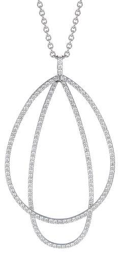 Rosendorff 'Essentials Collection' Brilliant Diamond Loop Pendant Diamond Pendant, Diamond Jewelry, Pretty Necklaces, Sparkles Glitter, Metallic Colors, Brilliant Diamond, Gold Pearl, Jewelry Sets, Pendants