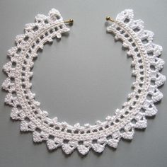 White Crochet Lace Choker Necklace Collar - Wedding Jewelry Not for Brides Only.