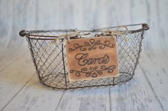 Rustic Wedding Cards Sign 4 x 5  for Your by RiverRoadRustics