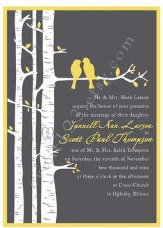 Custom Little Birdie Seasons Wedding Invitation Sample by event123, $1.75
