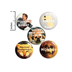 Funny I Hate Monday Buttons Sarcastic Pins for Backpacks or Jackets Lapel Pins Badges Mondays 5 Pack Gift Set 1 Inch - Packed Gifts Work Jokes, Work Humor, Funny Me, Funny Work, I Hate Mondays, Funny Buttons, Introvert Humor, I Love Bees, Bag Pins