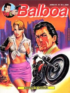 Cover for Balboa (Play Press, 1989 series) Ford, American, Comic Books, Comics, Cover, Movie Posters, Play, Motorbikes, Italia