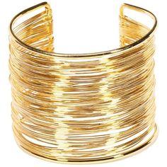 Yueton Rigid Steel Memory Wire Metal Circle Split Ring Coil Wire Thin... ($6.99) ❤ liked on Polyvore featuring jewelry, bracelets, golden bangles, cuff bracelet, bangle bracelet, wire bangle bracelet and wire jewelry