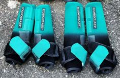 Teal/black ombre with teal strap Barrel Racing Saddles, Barrel Saddle, Barrel Racing Horses, Barrel Horse, Horse Boots, Horse Halters, Horse Gear, Horse Saddles, Western Pleasure Horses