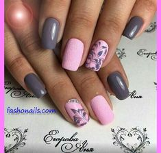 cute Spring Nail Designs – Pretty Spring Nail Art Ideas 2018 Best Picture For white nails For Your Taste You are looking for something, and it is Grey Nail Designs, Best Nail Art Designs, Nail Designs Spring, Cute Spring Nails, Spring Nail Art, Stylish Nails, Trendy Nails, Casual Nails, Nagel Bling