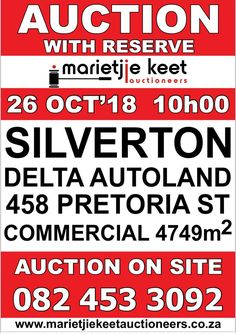Investment Property, Property For Sale, Land Auction, Pretoria, Commercial, October, Street, Skirt, Walkway
