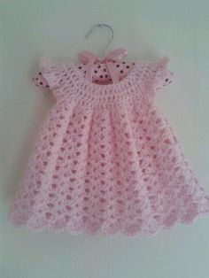Crochet baby girl dress free pattern angel wings Super ideas - Home & DIY Crochet Baby Dress Free Pattern, Crochet Dress Girl, Baby Dress Patterns, Baby Girl Crochet, Crochet Baby Clothes, Crochet For Kids, Crochet Patterns, Crochet Dresses, Knit Baby Dress