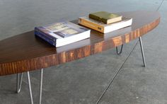 Mid Century Modern Eames Inspired Coffee TableWalnut by CoMod, $349.00