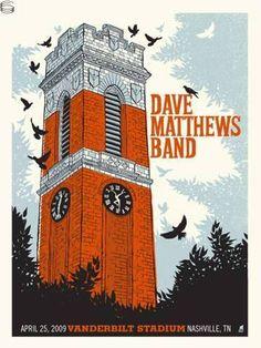 Dave Matthews Band - 2009 Tour Poster - Nashville, TN