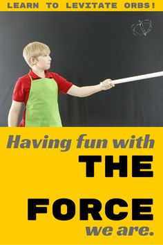 This STAR WARS SCIENCE trick is sure to please! Illustrates how similar charges repel.