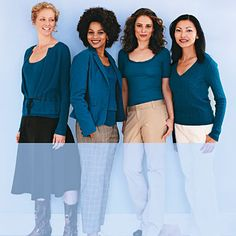 The 4 Universally Flattering Clothing Colors: Indian Teal - such a beautiful color that looks good with just about anything!