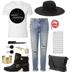 Night Changes 2 by sam-isabella on Polyvore featuring Whistles, MARC BY MARC JACOBS, Blue Nile, Kenneth Jay Lane, Bling Jewelry, Vince Camuto, MAC Cosmetics and Essie