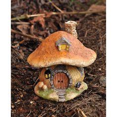 Miniature Fairy Garden and Terrarium Mushroom Fairy House Statue