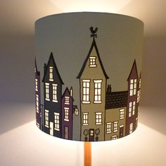 The Street Lampshade Or Ceiling Shade by Hubbard & Reenie, the perfect gift for Explore more unique gifts in our curated marketplace. Painting Lamp Shades, Painting Lamps, Lamp Light, Light Up, Diy Light, Light Table, Rotary Screen Printing, Deco Nature, Ceiling Shades