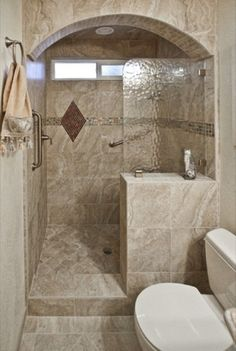 tiny bathroom design | Small Bathroom Design with Walk-in Shower - How to Decorate Small ...