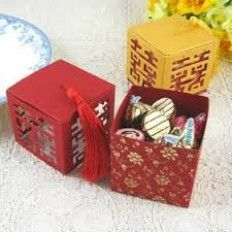 New Double Happiness In Four Side Wedding Favour Box