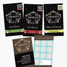 Yummy chocolate labels for Xocolatl #packagingdesign #designinspiration #design #graphicdesign