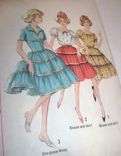 50's fashion illustration