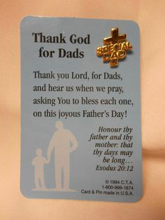 "Are you ready for Father's Day? Gold Tone ""Special Dad"" cross pin with religious card #CTA"