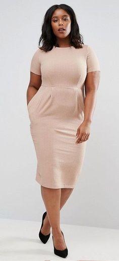 Plus Size Midi Wiggle Dress