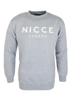 dbf556b7b1 Nicce London Original Logo Sweater. long sleeved crew neck jumper. Nicce  London print on