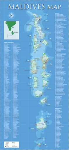 Maldives Map - I can't wait to visit the Maldives one day!