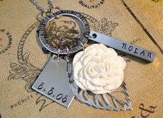 Cluster Necklace with choice of Flower by natsknapsack on Etsy, $32.00