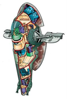 Star Wars Slave 1 for Topps by Byron Taylor - www.byrontaylor.com - Fine Art blog at http://btsculptor.blogspot.com/