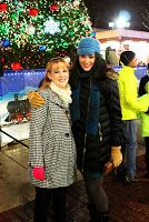 Tree lighting at Newport On The Levee. Jacki Jing from channel 19 news