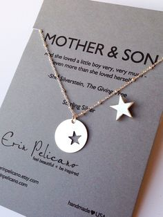 Mother Son Jewelry. Inspirational Gift. Mom by erinpelicano