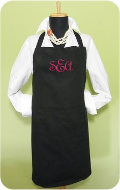"""Classic Apron- Perfect to embellish with Crystal Eye Candy's """"Mom's Pearls"""" crystal kit.  Buy now and make Mom a thoughtful gift for Mother's Day!"""