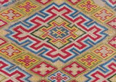 Diamond Pattern Bargello Embroidery | From a unique collection of antique and modern textiles and quilts at http://www.1stdibs.com/furniture/more-furniture-collectibles/textiles-quilts/