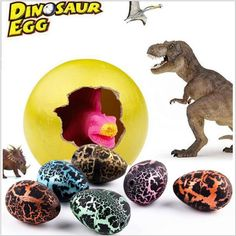 Novelty Growing Magic Brinquedos Large Plastic Add Water Incubational Inflation Dinosaur Hatching Eggs Breeding Kids Educational