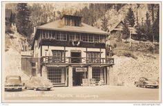 RP:  Gateway Lodge , RADIUM HOT SPRINGS , B.C. , Canada , 30-40s : Byron Harmon Photo postcard