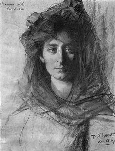 'Woman from Cordoba' - Thérèse Schwartze (1851-1918)