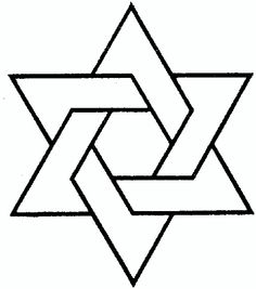 star of david pattern use the printable outline for crafts rh pinterest com Star Wars Clip Art Black and White Stars and Stripes Clip Art Black and White