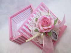 Pink Shabby Chic Wooden Keepsake Box  by TheMemoryKeeperShop