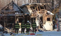 Fire fighters and Ontario Fire Marshall officials attend the scene of a house fire on Oneida Nation of the Thames, southwest of London, Ont., Thursday Dec. 15, 2016.