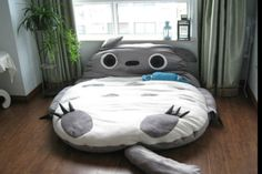 There is a Totoro Design bed! one or Double Totoro bed.Your children must love it. 290 New Huge Comfortable Totoro Bed Sleeping Bag Pad. The cuddly, fuzzy, full-sized Totoro cushion bed is actually sized to accommodate two adults. My Neighbor Totoro, Christmas Gifts For Kids, Double Beds, Studio Ghibli, Kids Furniture, Furniture Design, Garden Furniture, Bedroom Furniture, Cute Cartoon
