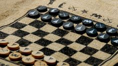 Burlap Roll-up Games from Beekman 1802