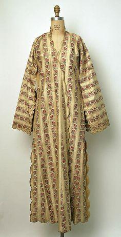 early 20th century Kaftan; silk, metallic thread Dimensions: Length at CB: 58 in. (147.3 cm) (The Met)