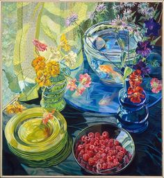 A painting by Janet Fish