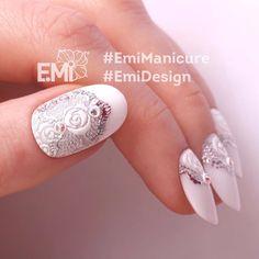 Хочу замуж !!!!!!!! Мне нужно ещё раз за своего мужа замуж выйти Жаль во времена моей свадьбы дизайн был не такой....... I want to get married to my husband again! Unfortunately, there wasn't such design, when I had wedding. #EmiManicure #EmiLac #EMi #EmiDesign #manicure #emischool #nailart #nails #gelpolish #instanail #нейлкруст #дизайнногтей #маникюр #nailcrust #гельлак #PRINCOT #TEXTONE #GLOSSEMI # #ногти #педикюр #шеллак #nailart #nailpro...