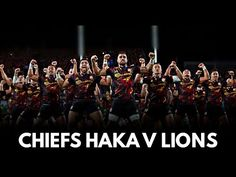 The Chiefs haka against the British Irish Lions, the first Super Rugby team to do so last year against an international side, being Wales. British And Irish Lions, Super Rugby, Wales, Concert, World, Music, Youtube, Musica, Musik