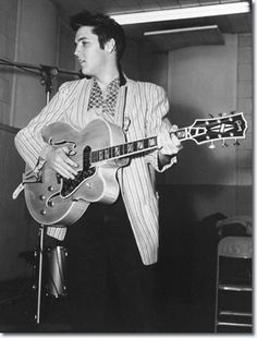 Elvis Presley during the Jailhouse Rock sessions.