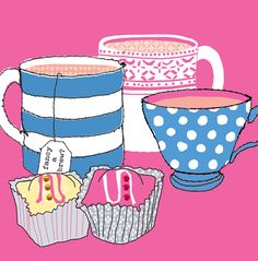 Tea and cupcakes | Stop the Clock design